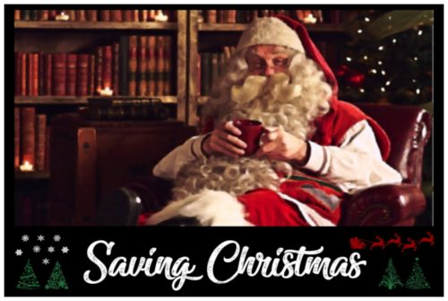 Saving Christmas web poster image